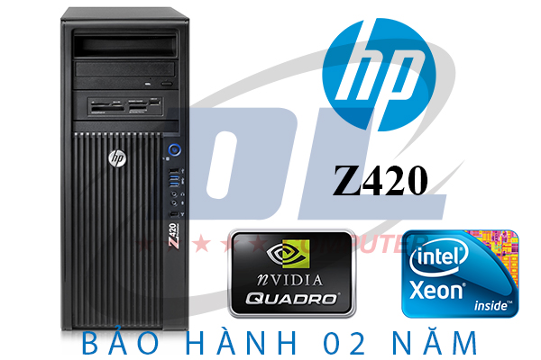 Hp Z420 WorkStation / Xeon E5-2667, VGA K600, SSD 120G, DRam 16G, HDD 500G