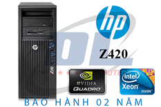 Hp Z420 WorkStation/ Xeon E5-2680, Dram3 32G, VGA Quadro K4000, SSD 240G + HDD 1Tb